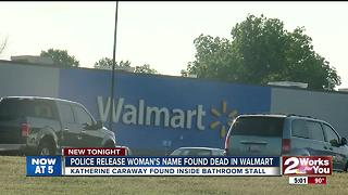 Woman found dead inside Walmart bathroom - Video