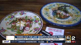 Dining Out for Life fundraiser benefits Moveable Feast in Baltimore - Video