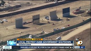 Local protest over government shutdown