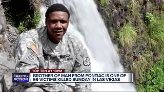 Pontiac man's brother is Las Vegas police officer killed in mass shooting - Video