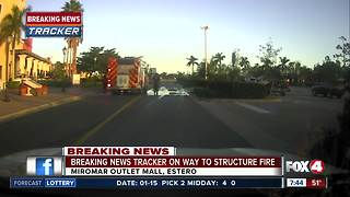 Structure fire at Miromar Outlets - Video