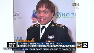 Staff sergeant responds to Trump's transgender military ban - Video