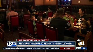 Restaurants prepare to reopen to dine-in customers