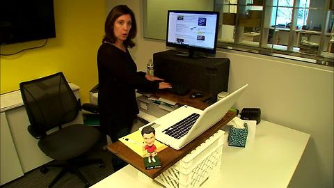 This DIY standing desk cost absolutely nothing!