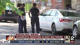 Quadruple shooting under investigation in East Baltimore - Video