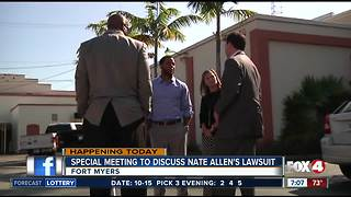Special meeting to discuss Nate Allen's lawsuit in Fort Myers - Video