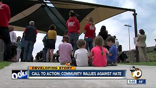 Call to action: Community members rally against hate