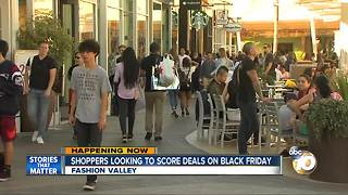 San Diego shoppers looking to score deals on Black Friday - Video