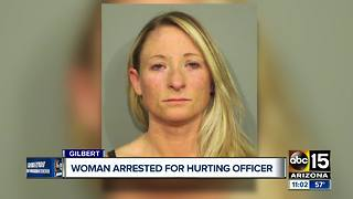 Woman arrested for hurting Gilbert officer - Video