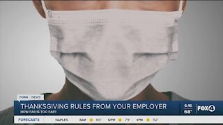 Thanksgiving rules from your employer
