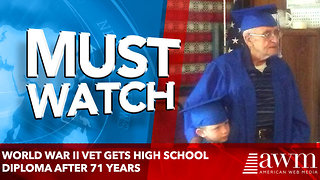 World War II vet gets high school diploma after 71 years - Video