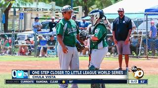 Chula Vista boys move closer to Little League World Series - Video