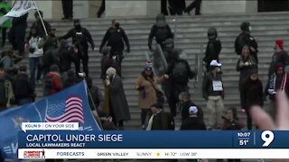 Local members of Congress react to events at U.S. Capitol
