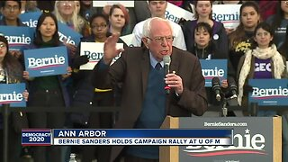 Bernie Sanders holds campaign rally at University of Michigan