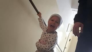 Baby REFUSES Help Climbing Stairs - Video