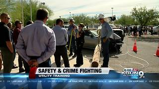 Police and utility workers train together for scene safety - Video