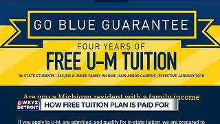 How the U of M is paying for it's free tuition program - Video