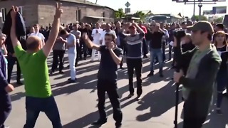 Security Forces Deployed as Demonstrators Block Road to Airport in Armenian Capital