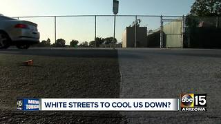 Phoenix monitoring white-painted streets program in Los Angeles - Video