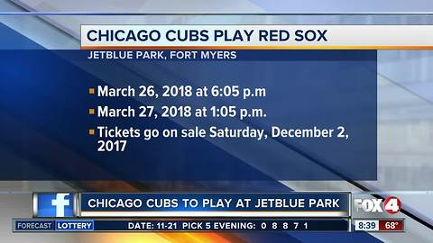 Cubs set to make historic trip to Fort Myers for spring training