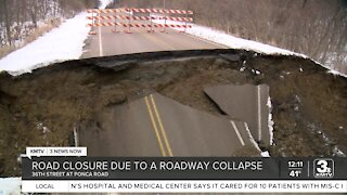Road Collapse on Ponca Rd.