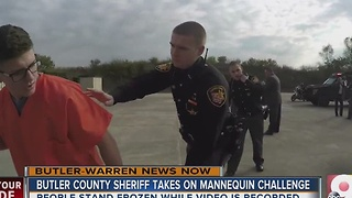 Butler County Sheriff takes on mannequin challenge - Video