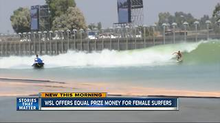 World Surf League is offering equal prize money for female surfers