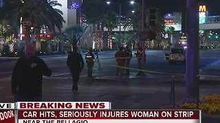 Woman hit by taxi on Las Vegas Strip - Video