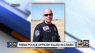 Mesa police officer dies in motorcycle crash while off-duty (published) - Video