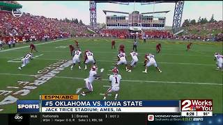 Oklahoma holds off Iowa State, 37-27 in Big 12 opener