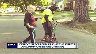 Detroit Peace Peddlers hit the streets to help improve neighborhoods - Video