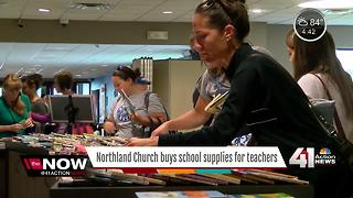 North Heartland Community Church buys school supplies for teachers - Video