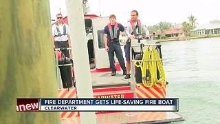 Fire Department gets life-saving fire boat - Video