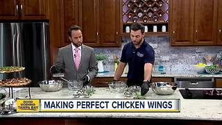 Topping off chicken wings with tangy recipe