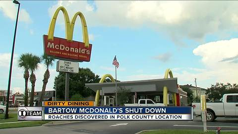 Dirty Dining: McDonald's shut down for 4 hours for live roaches crawling on the milkshake machine
