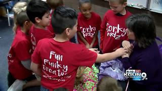 DeGrazia Elementary kids donate sales to charity - Video