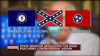 State Senator apologizes for mask featuring controversial design
