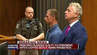 Man gets 5 years probation after poisoning wife