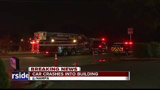 Car crashes into Nampa home, crews working on gas leak - Video
