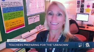 Teachers in Palm Beach County make final preparations before in-person learning starts Monday