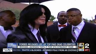 Michael Jackson named top earning dead celebrity - Video