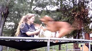 Trampoline Fun With The Best Friend - Video