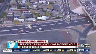 Motorcyclist involved in crash on Rancho Drive | Breaking news - Video