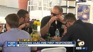 Thanking Lilac Fire first responders