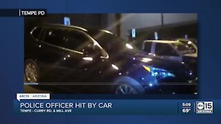 Tempe police sergeant struck by car while responding to street racing call