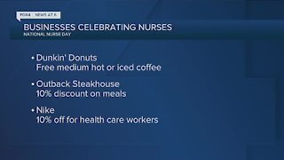 Freebies, discounts offered to healthcare workers during National Nurses Week