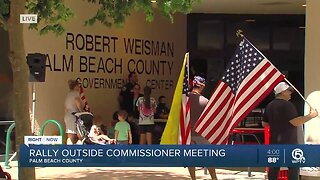 Rally held outside Palm Beach County coronavirus meeting