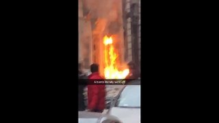 Aftermath of massive explosion in Paris - Video