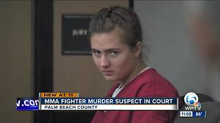 MMA fighter murder suspect in court - Video