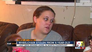 Thief steals 6-year-old's wheelchair - Video